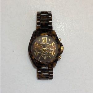 MK tortoise and gold watch with extra links!